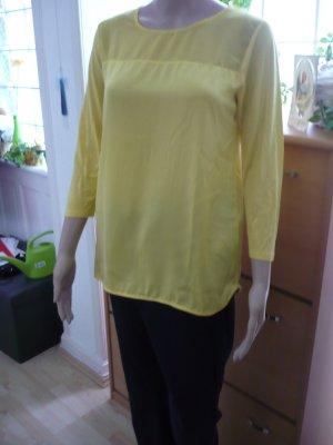 Gelbe Frühlings- /Sommer -Bluse mit langen Ärmeln