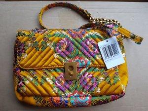 Gelbe gemusterte Tasche mit Kettenhenkel