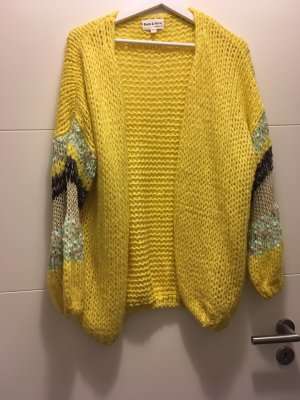 Coarse Knitted Jacket yellow