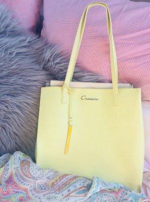 Gelbe Handtasche Shopper von Cromia