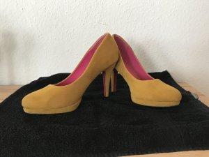 #Gelbe High Heels in Größe 39