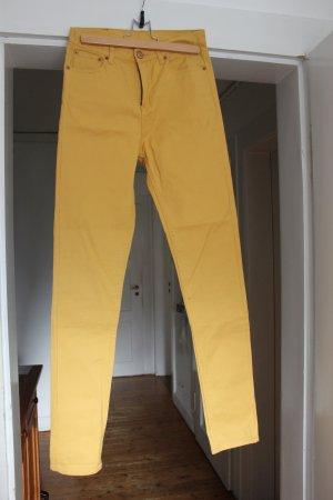 Gelbe high-waisted Jeans von Weekday W27 L32