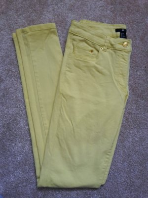 H&M Stretch Jeans yellow cotton