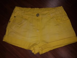 Gelbe Jeans Shorts