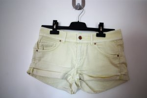 Gelbe Jeans-Shorts