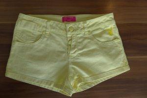 Gelbe Jeans-Shorts von Playboy