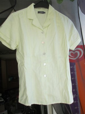 gelbe Kurzarm-Bluse Größe 38