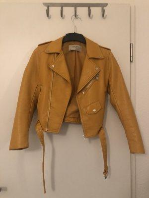 Gelbe Lederjacke Zara
