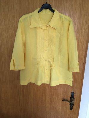 Blusa in lino giallo