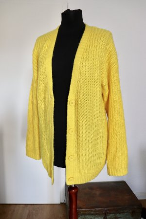 Asos Coarse Knitted Jacket yellow-neon yellow