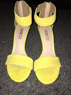 Gelbe Pumps Sandalette NEU sehr schön