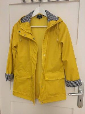 Gelbe Regenjacke mit grossen Taschen