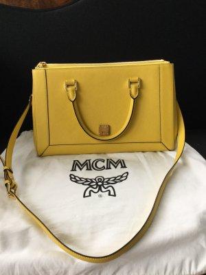 Gelbe Shopper von MCM, mit Beleg