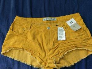 gelbe Shorts kurze Hose gr 44 Neu stylisch