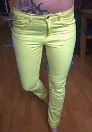 Gelbe skinny Röhrenjeans H&M XS/S