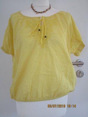 gelbe sommer boho bluse