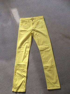 H&M Pantalon cigarette jaune-jaune fluo