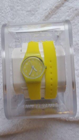 gelbe Swatchuhr