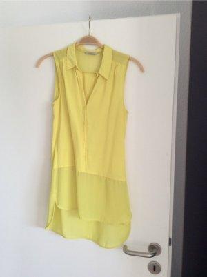 gelbe transparente Bluse