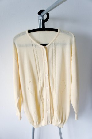 gelbe Vintage-Strickjacke
