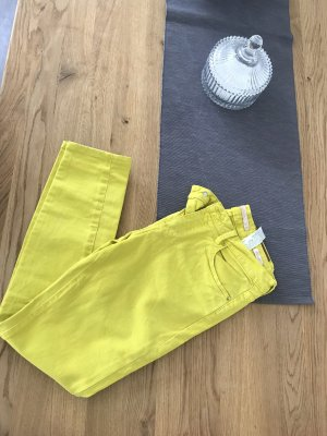 Zara Jeans a 7/8 giallo-giallo neon