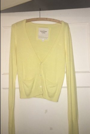 Abercrombie & Fitch Coarse Knitted Jacket yellow