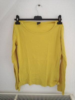 gelber Basic Pullover