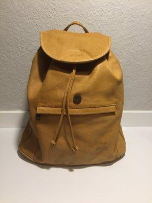 Gelber BREE Leder-Rucksack
