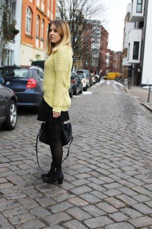 Gelber Grobstrick-Pulli von H&M Trend