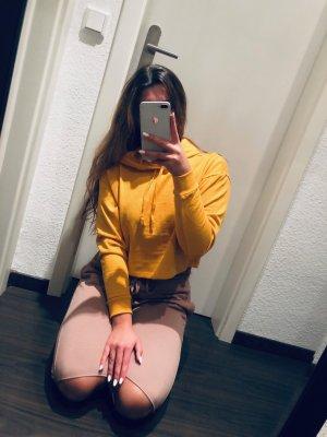 Gelber H&M Kapuzen Pullover neu!