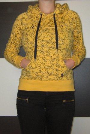 Gelber Hoodie mit süßem Print von Only