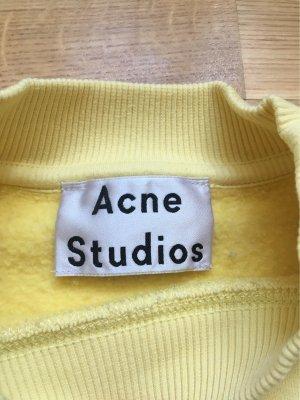 Acne Maglione oversize giallo pallido-giallo chiaro Cotone