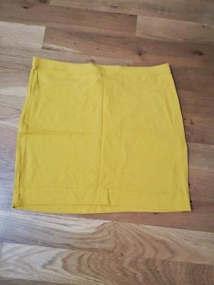 Gelber Minirock aus Jersey