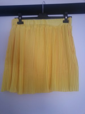 Pleated Skirt yellow copper rayon