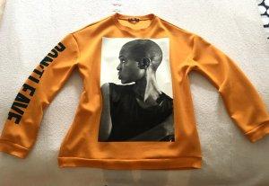 Gelber Pullover von Zara in Gr.S mit superschönem Druck