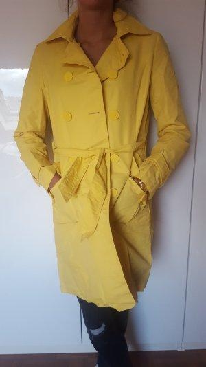 Gelber Trenchcoat von Mango Suit in L