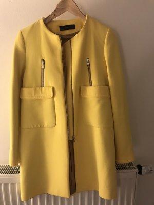 Zara Abrigo de entretiempo amarillo pálido-amarillo