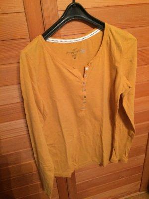 Gelbes Basic langarm Shirt