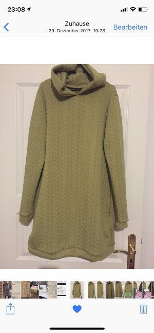 Hooded Dress lime yellow-yellow