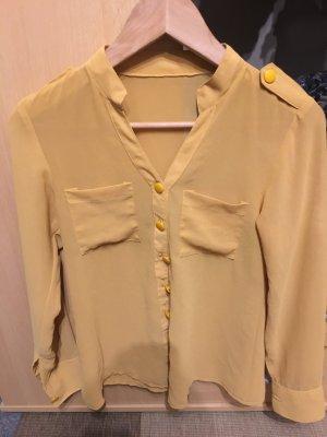 Shirt met korte mouwen goud Oranje