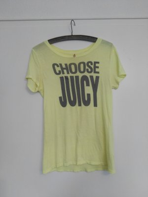 gelbes Juicy Couture T-Shirt Shirt choose juicy