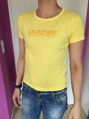 Gelbes Kurzarm T-Shirt Broadway Gr S (XS)