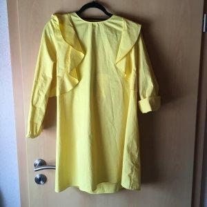 Gelbes langarm Kleid