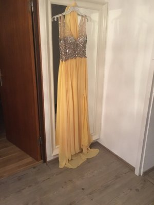 Gelbes langes glitzer Kleid