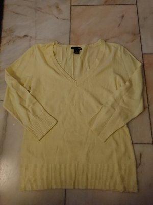H&M Maglione con scollo a V giallo chiaro-giallo