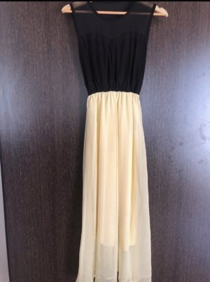 Midi Dress black-pale yellow