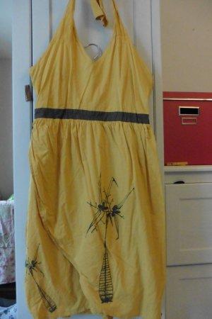Gelbes Neckholder-Sommerkleid von Skunkfunk