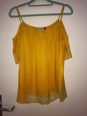 Linen Blouse yellow-gold orange