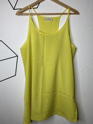 Zara Camicia lunga giallo neon