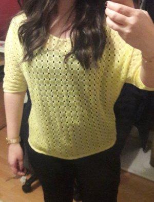 Vero Moda Camisa de ganchillo amarillo